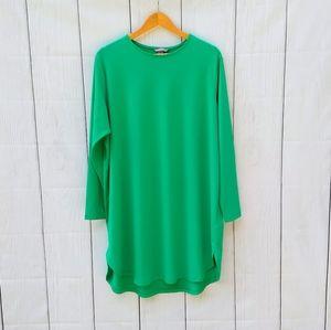 H&M green long sleeve tunic